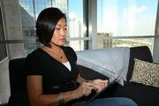 22squared. Jennifer Carreno, SVP/Creative Director, Design, working on her iPad.