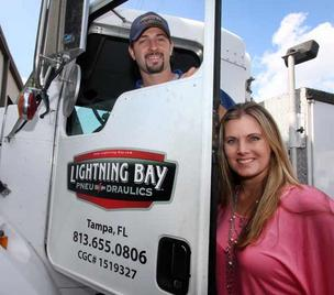 Lightning Bay Pneu-draulics President Pamela Fay and Vice President David Fay have built the company from the ground up.