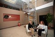 Arehna Engineering Inc.'s Sonia Florence, vice president, and Jessica McRory, president, in their new office.