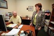 Jeffrey Weber, client service advisor for C&L Value Advisors, works with Jolene Loos, partner.