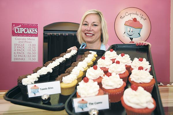 Nicole Rogers Longo, owner of The Cupcake Spot, in the St. Petersburg Central Avenue location.