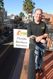 Kevin Baker in the Florida Business Interiors Ybor City office