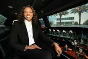 Beleria Floyd, CEO ofGrand Dames Car Service Inc., waiting for a client at Syniverse in Tampa for a ride to TIA.