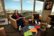 Kobie Marketing's chair Bonnie Hechtkoph in the  St. Pete office.
