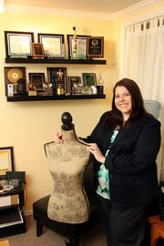 Ginger Reichl, president of Pinstripe Marketing in her St. Petersburg office.
