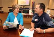 Christie Dyer, franchisee and Robert Parfitt, principal with The Waiting Game.