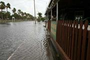 The Village Pub in Gulfport was flooded.