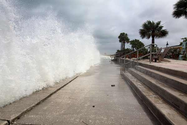 Tropical Storm Debby washes ashore in Pass-A-Grille.