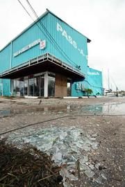 Pass-A-Grille Marina damage from Tropical Storm Debby.