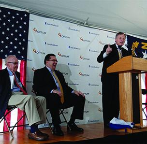 Sen. Richard Burr at UnitedHealthcare jobs announcement