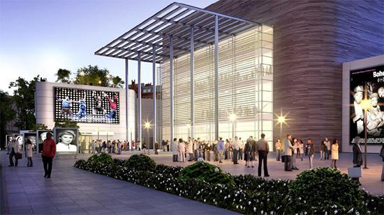 A rendering of what the downtown Greensboro Performing Arts Center could look like.
