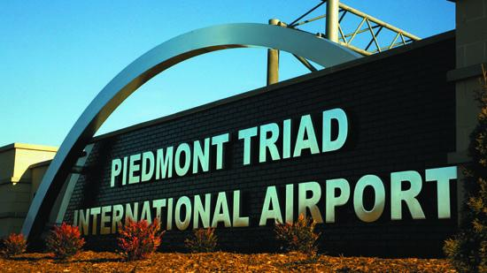 Piedmont Triad International Airport in Greensboro.