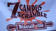 About 275 runners competed in the 7 Campus Scramble in Greensboro's Center City Park on April 21 as part of the Greensboro Collegiate Biscuitville Bowl.