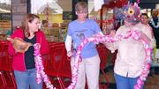 The nautical, Hawaiian-themed Trader Joe's had a ceremonial cutting of the lei at its grand opening in Winston-Salem on Friday morning.