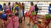 Shoppers of all ages arrived at Friday's grand opening.