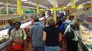 Hundreds of shoppers filled the store, which made for some rather crowded aisles.