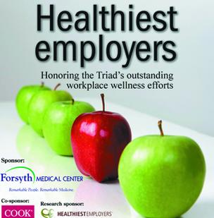 The Business Journal recognizes 15 organizations for exemplary wellness programs in the inaugural Triad's Healthiest Employers awards program.