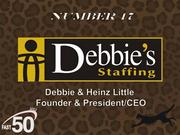 Debbie's Staffing provides staffing solutions with a focus on partnering with clients to maximize their productivity and assisting associates with their career objectives. The Winston-Salem-based company had $80.6 million in revenues last year.