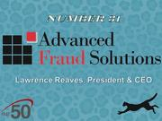 Advanced Fraud Solutions in Kernersville provides fraud prevention software and services for financial institutions.