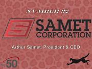 Samet Corp. provides construction and real property development services. The Greensboro company had $157.9 million in revenues last year.