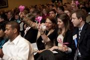 The audience used heart-shaped clappers to show their support for the Triad's 40 Leaders Under Forty.