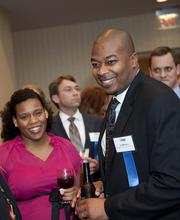 40 Leaders Under Forty honoree Ira Williams, right. Williams is assistant vice president of financial center operations at Allegacy Federal Credit Union in Winston-Salem.