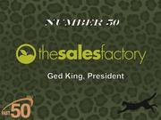 The Sales Factory is an advertising agency and marketing consultancy based in Greensboro. The company had $3.5 million in 2011 revenue.