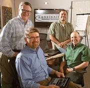 No. 3555 - Concinnity Marketing & Technology. The database marketing company is based in Winston-Salem. Concinnity partners are, from left to right:  Callan Faino, chief strategy officer; Neil Linnell, chief operating  officer; Richard Freiberg, chief technology officer; and Christopher  Gunzenhauser, chief executive officer.