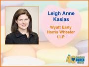 Why selected: Leigh Anne Kasias, a lawyer with Wyatt Early Harris Wheeler LLP, works to improve elder law by frequently making presentations on the topic in the community and is the founder of Young Elder Law Attorneys, a professional organization in Guilford County. She gives back to the community through her leadership roles with several nonprofits, including the Junior League of High Point, the Arc of High Point and Communities in Schools of High Point.