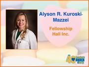 Why selected: Dr. Alyson R. Kuroski-Mazzei is responsible for care and supervision at Fellowship Hall Inc., a nonprofit specialty hospital for people suffering from addiction, as well as oversight of Duke University's and UNC-Chapel Hill's residency programs at the facility. She holds academic appointments at both universities and helped found The Helene Foundation, a nonprofit that helps mothers fighting cancer.