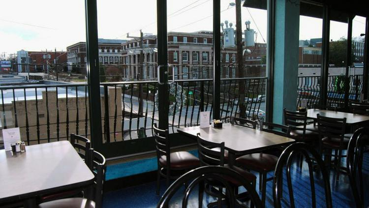 The view from the new Los Cabos restaurant on Tate Street in Greensboro.