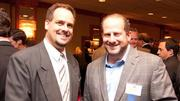 Lloyd Whittington, managing editor of The Business Journal, and Varrow co-founder Dan Weiss. Varrow came in at the top of the Triad's Fast 50.
