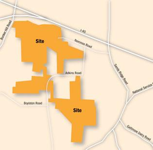 Property owners near a proposed 431-acre corporate park between Sandy Ridge Road and Interstate 40 in High Point want more input into the project.