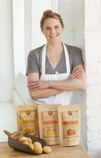 Anna Mae Southern Bread Co. owner Shana Martin with some of her products.