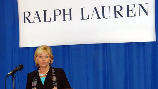 Gov. Bev Perdue said at Thursday's announcement that Ralph Lauren would be expanding and adding jobs in High Point.
