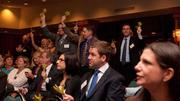 The crowd gets pumped for the Fast 50 countdown.