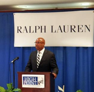 George Clopton of Ralph Lauren spoke at Thursday's  Global Opportunities Summit in Greensboro.