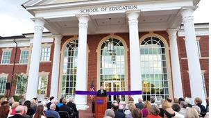 The School of Education building that opened on High Point University's campus last year is LEED certified.