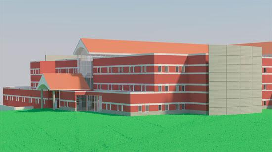 Lend Lease Healthcare has been hired to build the VA hospital in Kernersville. The rendering above was included in early bid documents, and the final design could change.