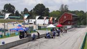 A view of pit lane and the north paddock area that is home to drivers and their teams during races. The American Le Mans Series event is expected to feature more than 30 teams, with up to 20 team members each, for the four-hour race on Sept. 15.