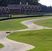 Fashioned as a raceway resort, Virginia International Raceway also offers loding, including townhouse villas, seen above. Along with the villas, the raceway includes a lodge, multiple restaurants and camping.