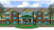 A rendering depicting the Admiral Pointe senior housing project.