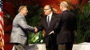 Bill Woodruff won the Academic Development Award for his work with Alamance Community College's Biotechnology program.