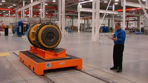 One of the axles that will be produced at Caterpillar's Winston-Salem plant.