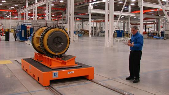 One of the wheels that will be produced at Caterpillar's Winston-Salem plant.