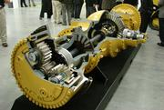 A cut-away version of the types of axles for mining trucks that will be produced at the Winston-Salem Caterpillar plant was on display during the grand opening Wednesday. Each axle takes about 7 1/2 hours to produce.