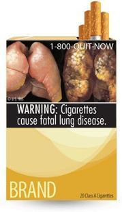 The latest court ruling in a case challenging graphic warning labels for cigarette packs like the one seen here found the labels unconstitutional.