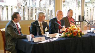 Panelists for The Business Journal's State of Rockingham event