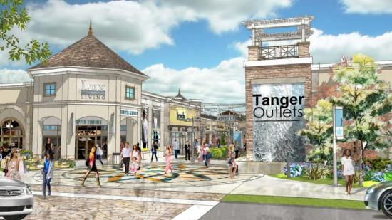 Tanger's outlet center would occupy about 40 acres of the Steele Creek site.