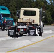 The one-third mile addition to Volvo's test track will allow for testing of heavy duty construction trucks. Trucks will undergo about 10 years' worth of wear in about 3 months on the track.